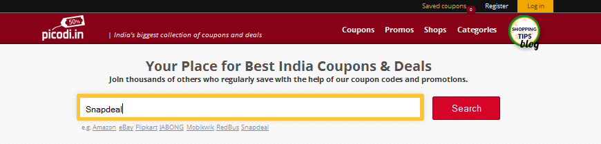 cupon-code-search-snapdeal