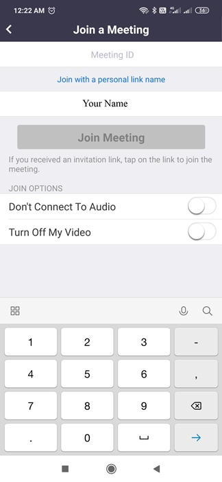 Zoom Join Meeting ID